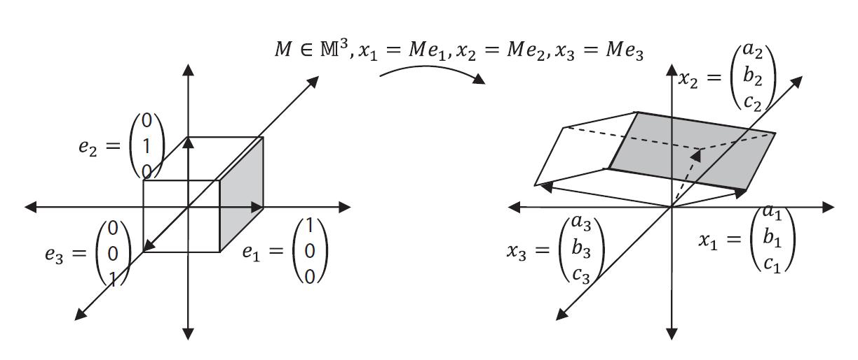 Figure 2. Volume transformation under M^3